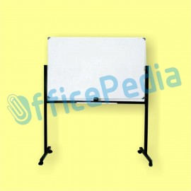 White Board 120x240cm Single Face Non-Magnet (Kaki Roda)