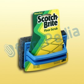 Sikat Lantai Scrub Pad with Handle Scotch Brite