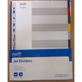 Index (Divider) Bantex 6010 A4 Size 10 Pages-