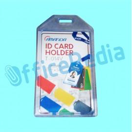 ID Card Holder Amanda T-014 Tegak/Putih Trans